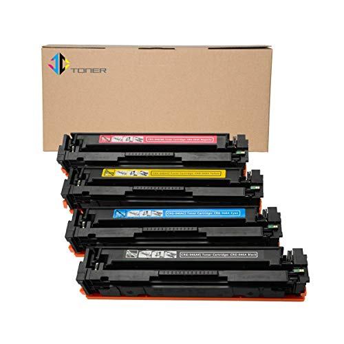 - JC Toner Compatible Toner Cartridge Replacement for Canon 046A (Black Cyan Magenta Yellow, 4-Pack)