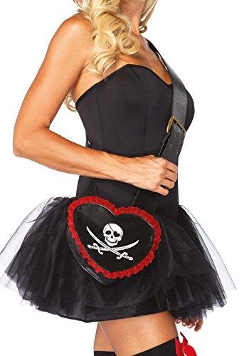 Leg Avenue Pirate Bandolier Purse Costume Accessory, Black, One Size