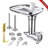 Metal Food Meat Grinder Attachments for KitchenAid Stand Mixers,...