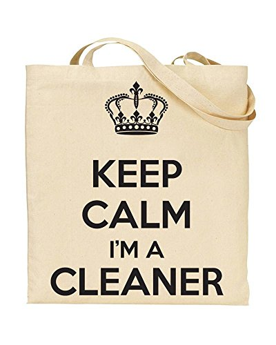 Handbag I'm TOTE Keep Novelty Calm Bag CLEANER by TeeDemon Shopping A Gift 5OOYwBq