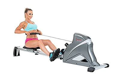 Sunny Health & Fitness SF-RW5508 Ultra Tension Magnetic Pro Rowing Machine Rower w/ LCD Monitor by Sunny Distributor Inc.