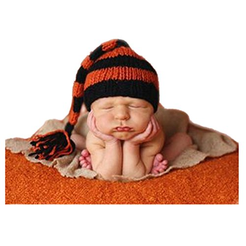 Model Unisex Newborn Baby Boy Girl Outfits Photography Props Christmas Long Tail Hat