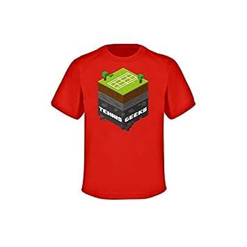 Tenis frikis camiseta - niños - Rojo, GRÖßE (Sw 351):164 (
