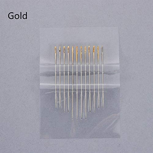 Embroidery Needles - 12pcs/lot Blind Needles Self-Threading Hand Sewing Needles Set Embroidery Tool DIY Needlework Household Tools Sewing Supplies