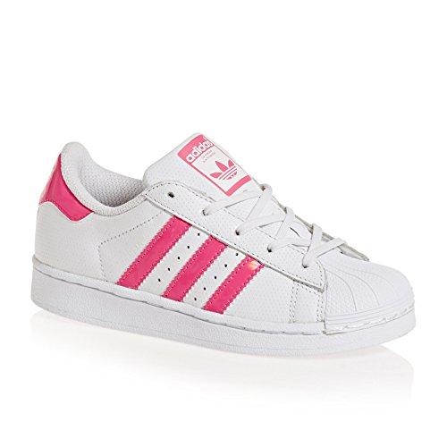 adidas Superstar C, Zapatillas de Deporte Unisex Adulto Blanco (Ftwbla / Rosrea / Ftwbla 000)