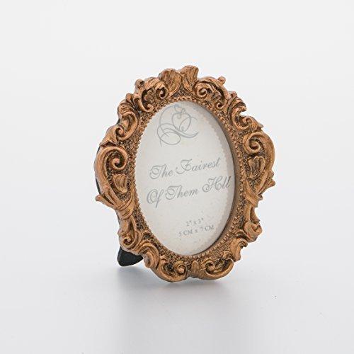 vintage mini oval photo frame baroque style picture home decoration 1pcs anique gold - Mini Gold Frames