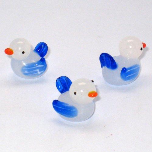 Blue Billed Ducks - Glasswork spot-billed duck [S] Blue No.2508 (japan import)