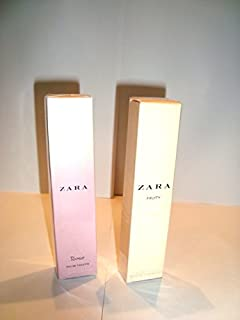 Two bottles ZARA FRUITY 10ML+ROSE 10ML EAU DE TOILETTE EDT FOR WOMAN Parfum