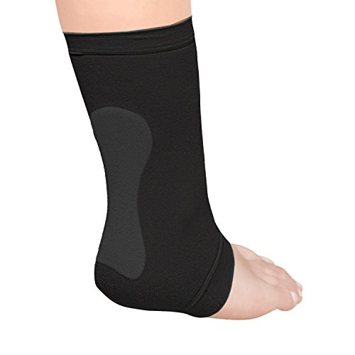 (Silipos Active Gel Achilles Heel Sleeve 1 Sleeve - Latex Free, Hypoallergenic Fasciitis Support for Heel Pain. Leg and Foot Support)