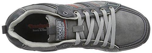 Dockers 37ao004-600120, Men's Low-Top Sneakers Black (Schwarz/Grau 120)
