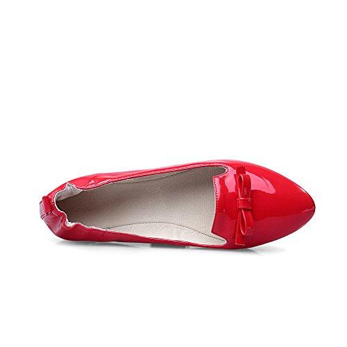 Non Couleur AllhqFashion Pointu Unie Femme Tire Talon Verni Chaussures 6nY1UIgY