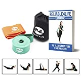 Reliable4life Stretch Band Exercise Straps (Set of 2) (Big Band & Small Band) for Sports, Yoga, Dance, Ballet, Gymnastics and Other Training with eBook of 15 Illustrated Exercises & Carrying Bag