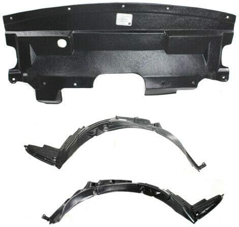 74151SCVA00 74111SCVA50 Parts N Go 2003-2006 Element Fender Liner Pair with Undercover Splash Guard Set