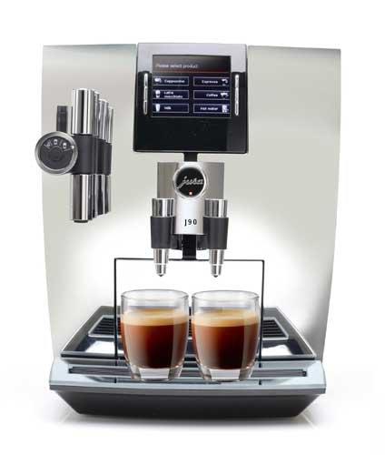 Jura J90 Automatic One-Touch Coffee Machine Chrome