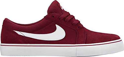 Nike SB Satire II, Zapatillas de Skateboarding para Hombre Rojo / Blanco  (Gym Red/White)