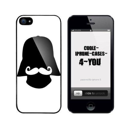Iphone 5 / 5S Schutzhülle Darth Moustache - schwarzer Rahmen