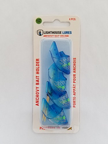 (Lighthouse Lures Anchovy Teaser Heads 4 Pack (Clear Blue Scale))