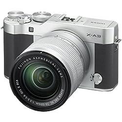 Fujifilm X-A3 Fotocamera Digitale da 24 MP e Obiettivo XC16-50 MM F3.5-5.6 OIS II, Sensore CMOS APS-C, Ottiche intercambiabili, Argento/Nero