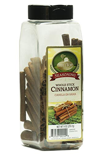 Hilltop Foods Whole Cinnamon Stick-Natural Seasoning Spice 9 oz Container ()