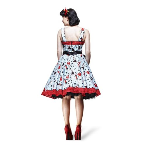 Claro Hell Bunny Azul Rockabilly nbsp;– nbsp;vestido De Dress Color rojo 50s Dixie Xxxxl xs 1zw1gq
