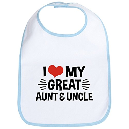 - CafePress - I Love My Great Aunt & Uncle - Cute Cloth Baby Bib, Toddler Bib