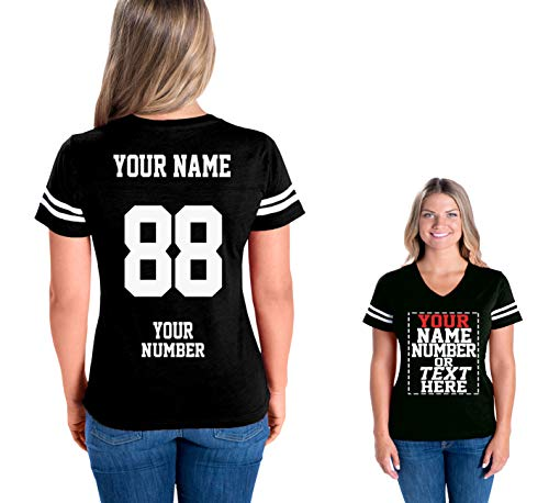 Custom Cotton Jerseys for Women - Personalized Team Uniforms for Casual Outfit - Football Tee Shirt Womens