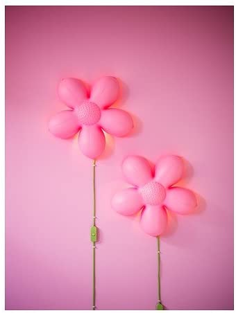 Ikea SMILA blomma Lámpara de Pared, Rosa Claro