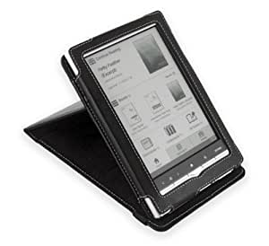 Cover-Up – Funda de cuero para Sony PRS-650 Touch Edition con soporte multiangular – color negro