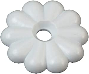 RV Designer H613, Rosette Washers with #6 Screws, White, 14 Per Pack, Interior Hardware