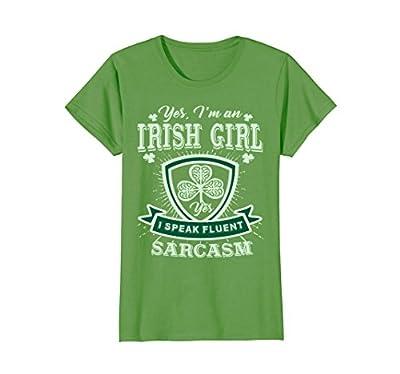 Womens I'm an Irish Best Girl T-Shirt,Perfect St Patrick's day