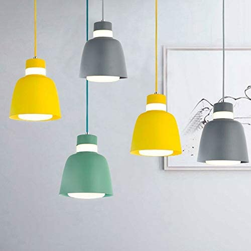 MINGZE Modern Metal Pendant Light with Frosted Glass Shade, Green Finish Interior Light Pendants, Hanging Ceiling Lamp for Dining Room Study Living Room Bedroom Cafe Shop