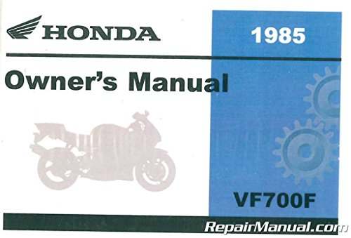 Honda Vf700f Interceptor - 31MB2630 Honda VF700F Interceptor Motorcycle Owners Manual 1984-1985