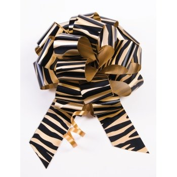 10-5 Tiger Print Pull Bow Pew Bows Wedding Decorations Christmas Gift Wrap