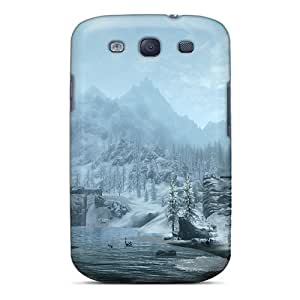 Galaxy S3 Wsv6013mVyj Allow Personal Design High Resolution Skyrim Snowy Mountains Image Bumper Cell-phone Hard Cover -best-phone-covers