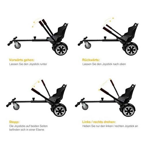Yoleo Hoverboard Siège Hoverboard Kart Siège Scooter Siège pour Trottinette Électrique Enfant Adulte 58 × 44 cm (Hoverboard Accessoires)