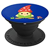 Cute Garden Gnome Royal Blue Background - PopSockets Grip and Stand for Phones and Tablets