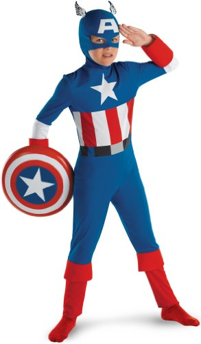 CAPT AMERICA MD 7-8 Classic (Kids Captain America Costume With Shield)