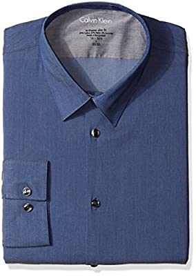 Calvin Klein Men's Xtreme Slim-Fit Chambray Shirt