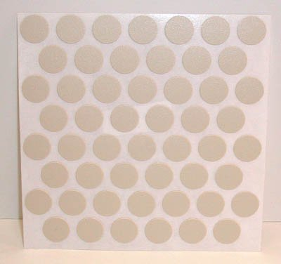 Fastcap Adhesive Cover Caps Pvc Almond 9/16
