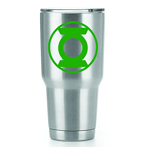 Of Costume Cup Lean (Green Lantern Vinyl Decals Stickers ( 2 Pack!!! ) | Yeti Tumbler Cup Ozark Trail RTIC Orca | Decals Only! Cup not Included! | 2 - 3 X 3 inch)