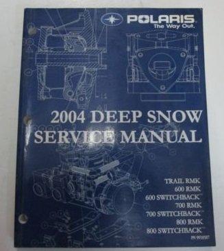 2004 Polaris Deep Snow Trail RMK 600 700 800 Switchback Service Shop Manual NEW