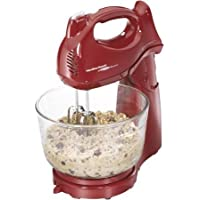 Hamilton Beach, Power Deluxe 4-quart Stand Mixer in Red Color