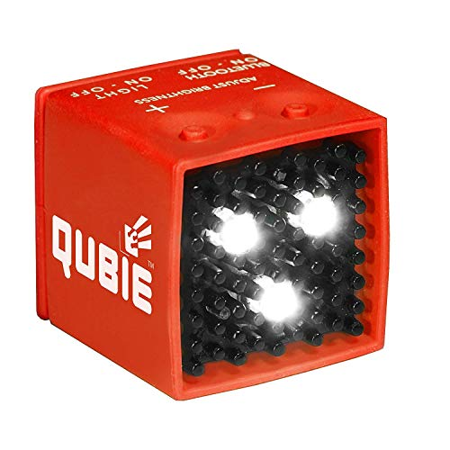 QUBIE - Bluetooth LED Light (Red) for photography and lighting