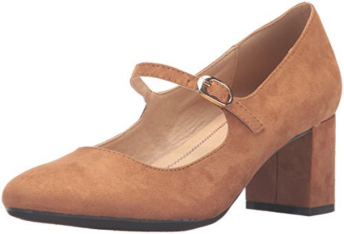 CL by Chinese Laundry Women's Anslee Mary Jane Pump, Caramel Super Suede,  7 M US