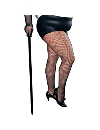 Secret Wishes Women's Plus-Size Plus Size Fishnet Tights Adult Costume, -Black, One Size