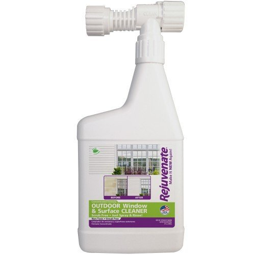 Rejuvenate Outdoor Window Spray and Rinse Cleaner with Hose End Adapter, 32 oz, Purple