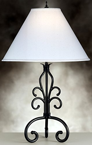 Complements Lighting Paradiso 30 inch 150 watt Spearhead w/Black Leather Table Lamp (Iron Leather Table Lamp)