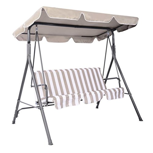 Swing Top Cover Canopy Replacement Porch Patio Outdoor 66''x45'' 75''x52'' 77''x43'' 66'' L x 45'' W Beige by Unknown