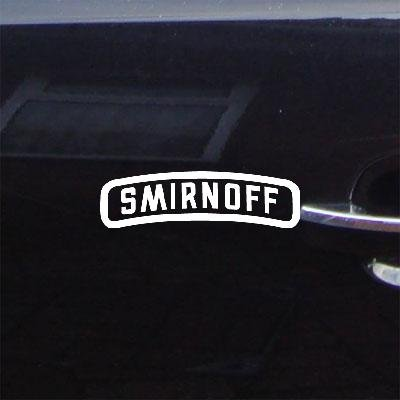 Smirnoff Apple (Laptop Bike Notebook Auto Decor Car Art Wall Art Helmet Adhesive Vinyl Sticker Decal Car Window White Die Cut Smirnoff Vinyl Home Decor Macbook Decoration Vintage)