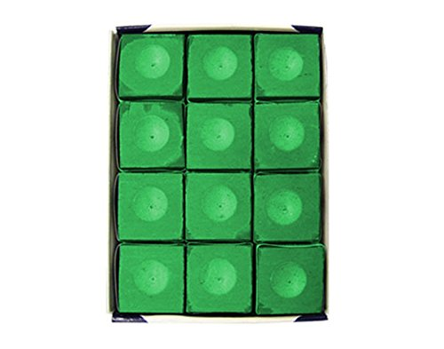 Silver Cup SC-12-TOURNAMENTGREEN Chalk Tournament Dozen Box, Green